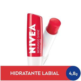 Protetor Labial Nivea Morango Shine 4,8g