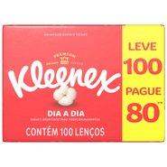 Lenços Kleenex Dia A Dia Leve 100 Pague 80 Unidades