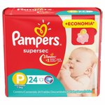 Fralda Pampers Supersec P C/24