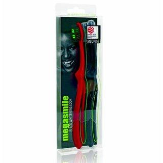 Escova Dental Megasmile Black Whitening Loop C/2 Unidades