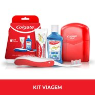 Kit Viagem Colgate Creme Dental + Escova Dental Retratil + Enxaguatorio 60ml