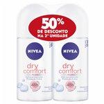 Kit Desodorante Nivea Roll Dry Feminino 50% Desconto 2º