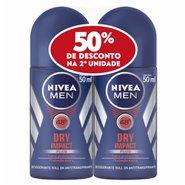 Kit Desodorante Nivea Roll Dry Masculino 50% Desconto 2º