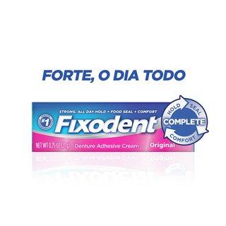 Creme Fixador De Dentadura Fixodent Original 21g