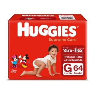 Fralda Huggies Supreme Care Hiper G Com 64 Unidades