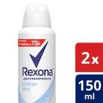 Desodorante Rexona Feminino Aerosol Cotton 2x90g 50%