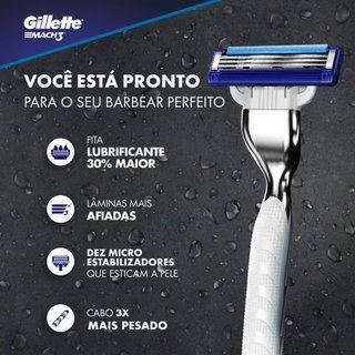 Carga Para Aparelho De Barbear Gillette Mach3 Turbo Com 4 Unidades