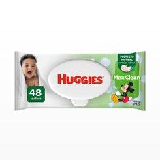 Lenços Umedecidos Huggies Max Clean Com 48 Unidades