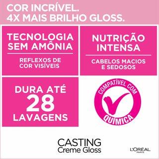 Tintura Sem Amônia Casting Creme Gloss De L'oréal Paris 300 Castanho Escuro