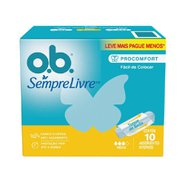 Absorvente Interno Ob Medio Leve 10 Pague 8 Unidades